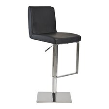 Fun, Colorful Adjustable Height Bar Stool with Cushion
