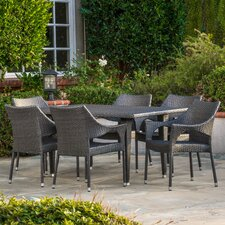 Cliff Outdoor 7 Piece Dining Set