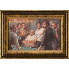 Callin' the Blue Framed Painting Print
