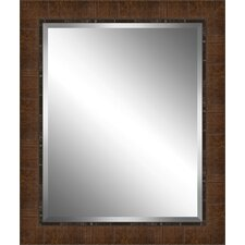 Wood Paneled Effect Framed Plate Glass Mirror