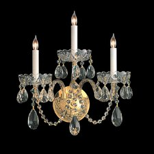 Bohemian Crystal 3 Light Wall Sconce