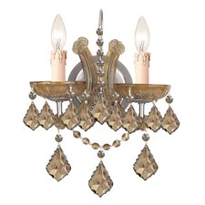 Bohemian 2 Light Crystal Candle Wall Sconce