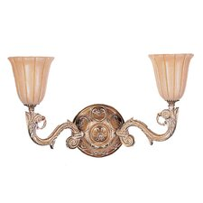 Natural Alabaster 2 Light Wall Sconce