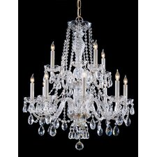 Traditional Crystal 12 Light Crystal Chandelier
