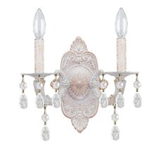 Sutton 2 Light Elements Crystal Wall Sconce