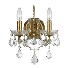 Filmore 2 Light Elements Crystal Wall Sconce