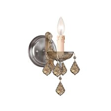 Bohemian Crystal  Candle Wall Sconce