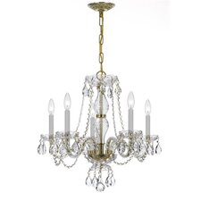 5 Light Crystal Chandelier V
