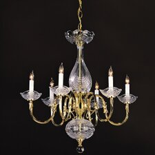 Historical Brass  Candle Chandelier in Polished Brass