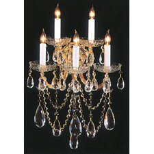 Bohemian 5 Light Crystal Candle Wall Sconce