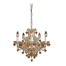 Hot Deal 5 Light Glass Chandelier