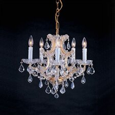 Traditional 6 Light Crystal Chandelier