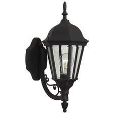 Straight Glass 1 Light Wall Lantern