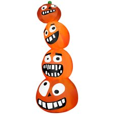 Airblown Halloween Inflatable Funny Pumpkin Stack Decoration