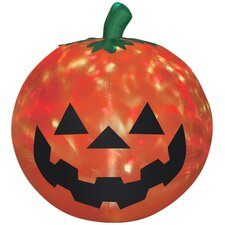 Projection Fire and Ice Pumpkin Airblown Inflatable Halloween Decoration