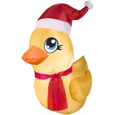 Airblown Inflatables Christmas Rubber Ducky Santa Decoration
