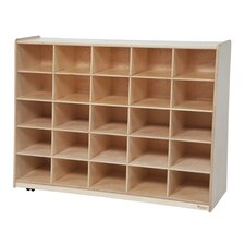Tip-Me-Not Healthy Kids Storage 25 Compartment Cubby
