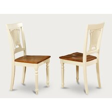 Plainville Wooden Chairs Cream/Cherry (Set of 2)