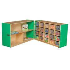 Half and Half Storage Unit with 20 Clear Trays