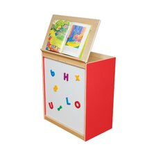Big Book Display with Magnetic Markerboard