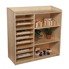 Natural Environment Sensorial Discovery Shelving Unit