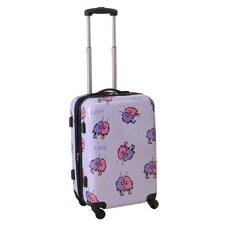 "Multi Love Birds 21"" Hardsided Spinner Suitcase"