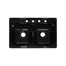 "Deluxe 31"" x 20.5"" x 9"" Kitchen Sink"