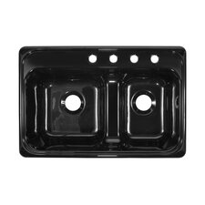 "Deluxe 33"" x 22"" x 10"" Kitchen Sink"