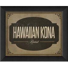 Hawaiian Kona Roast Framed Textual Art