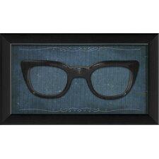 Glasses Framed Graphic Art