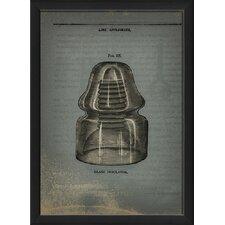Glass Insulator Framed Graphic Art