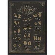 Animal Tracks Poster Framed Graphic Art