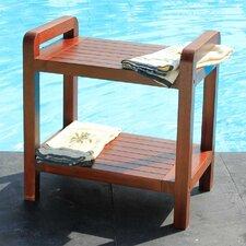 Outdoor Teak Bench Shelf / End Table