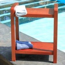 Outdoor Teak Ergonomic Bench Storage Shelf or Table