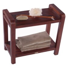 Lift Aide Ergonomic Teak Spa Shower Bench