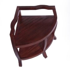 Lift Aide Contemporary Teak Spa Corner Shower Stool