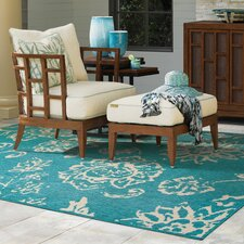 Seaside Teal/Beige Indoor/Outdoor Area Rug