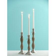 Illuminaria Noemi Aluminum/Rope Candlestick