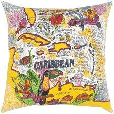 Canvas Print The Caribbean Throw Pillow