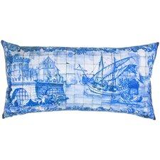 Tile Print Lumbar Pillow