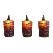 Tropical Paradise Decorated Brown Party Patio Tiki Light String