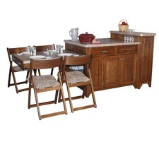 Kitchen Island Set with Granite Top