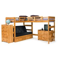 L-Shaped Futon Loft Bed