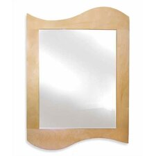 Natural Wave Rectangular Dresser Mirror