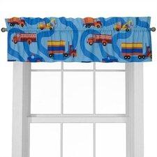 "Boy Like Trucks 57"" Curtain Valance"
