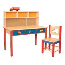 Boys Like Trucks Kids' 2 Piece Table and Chair Set