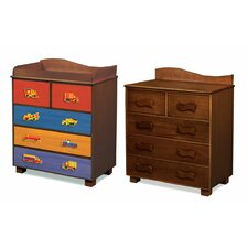 Boys Like Trucks 5-Drawer Chest