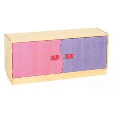"""Little Girl Tea Set 2-Door 20"""" Book Cabinet"""