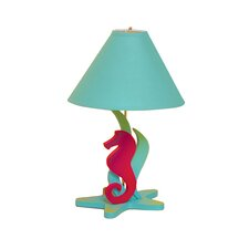 """Tropical Seas Seahorse 18"""" H Table Lamp with Empire Shade"""
