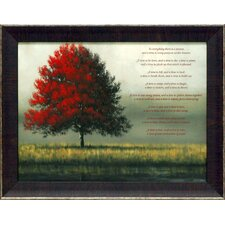 A Time for Everything Framed Painting Print